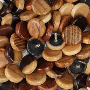 Wooden Button With Screw