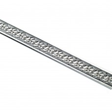 Kovinski trak za meh, porta OK/RO - staro srebro