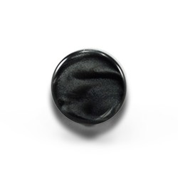 Plastic button with screw, 14 mm - black pearl 194