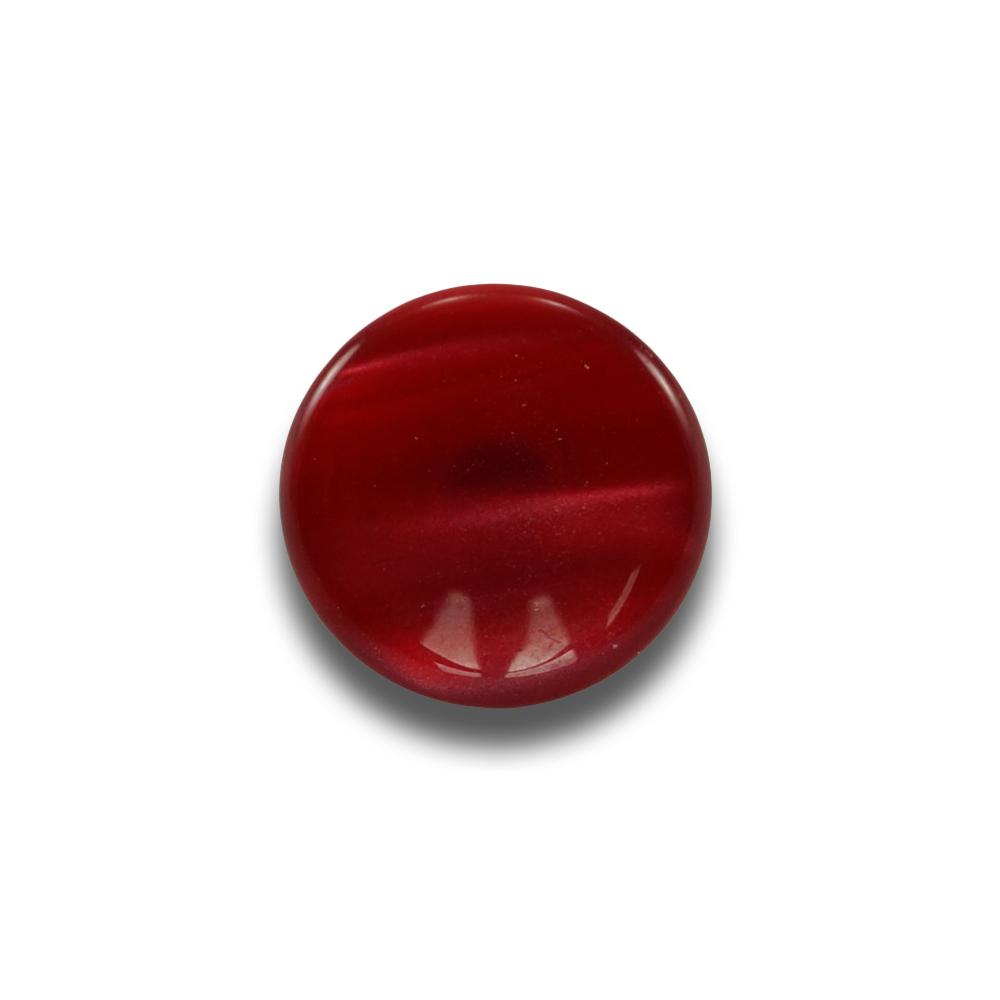 Plastični gumb z vijakom, 15 mm - rdeča perla 104