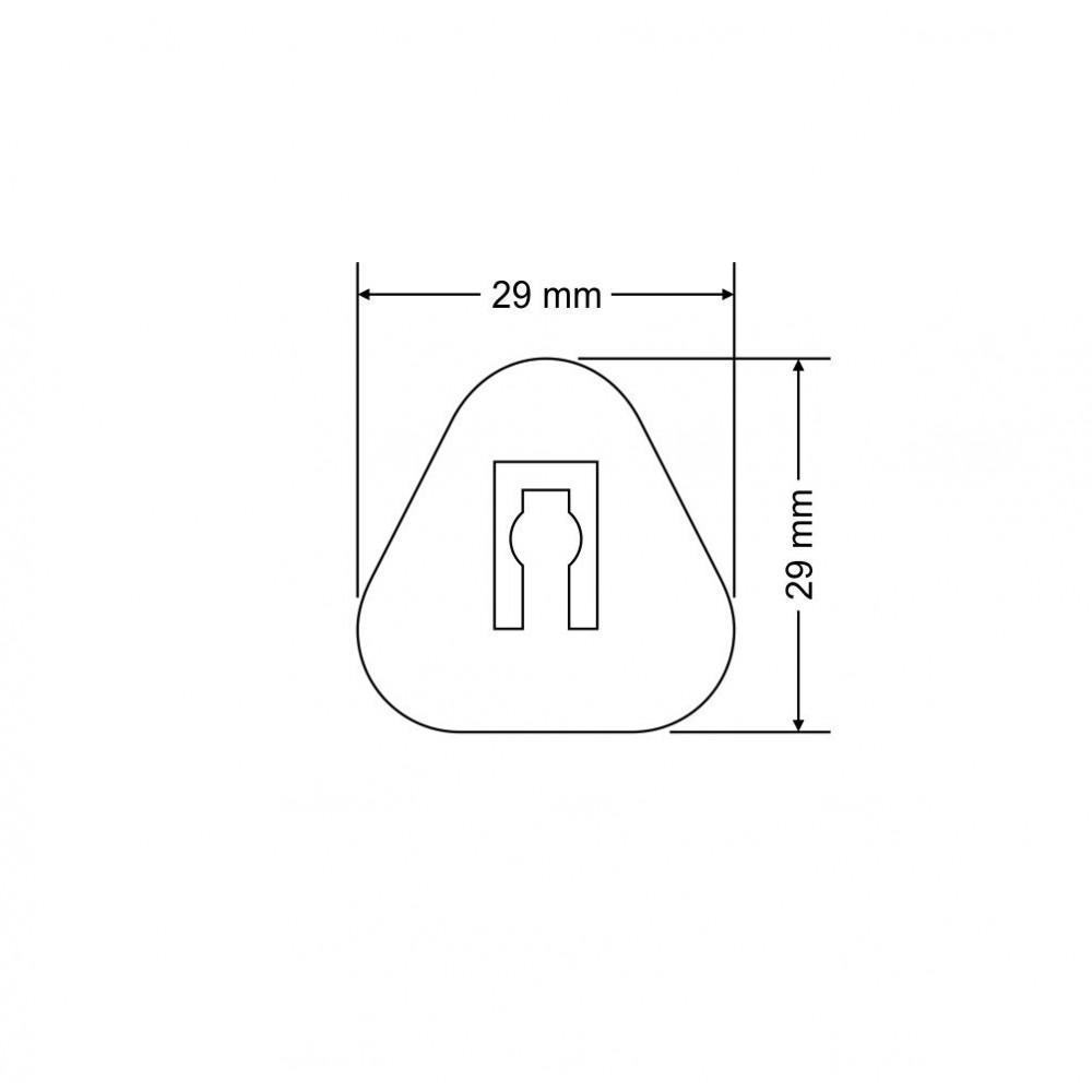 Plastična poklopka brez filca - trikotna A