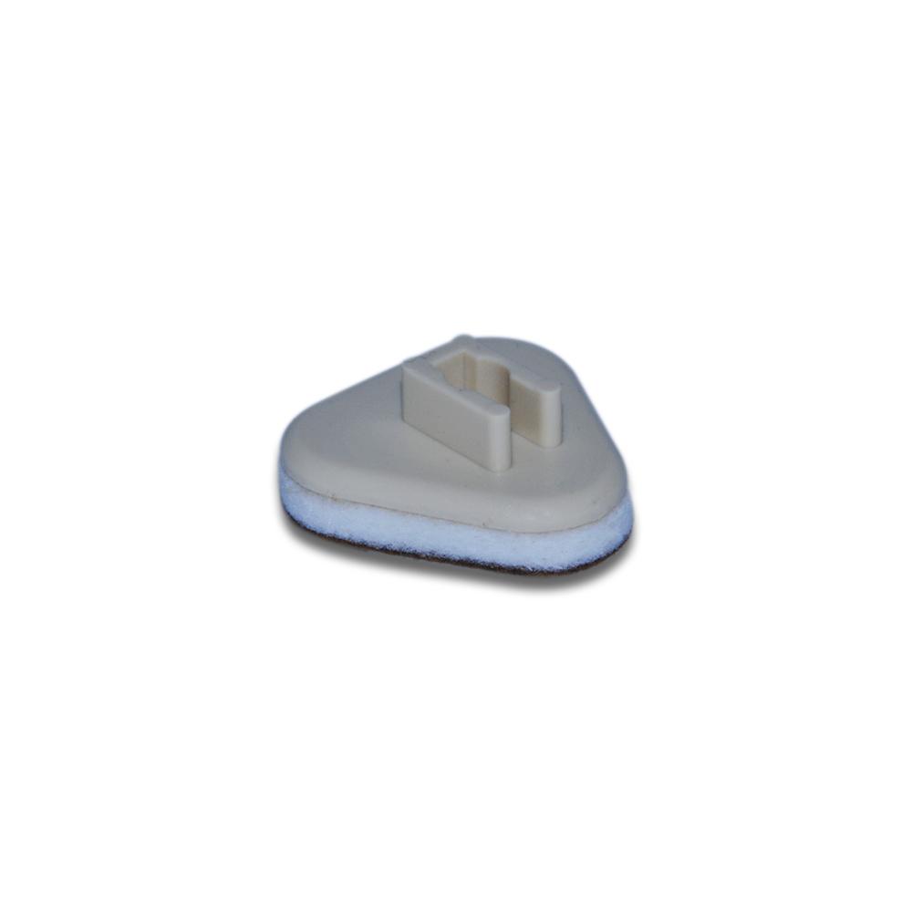 Plastična poklopka s filcem - 2,5 mm - trikotna V