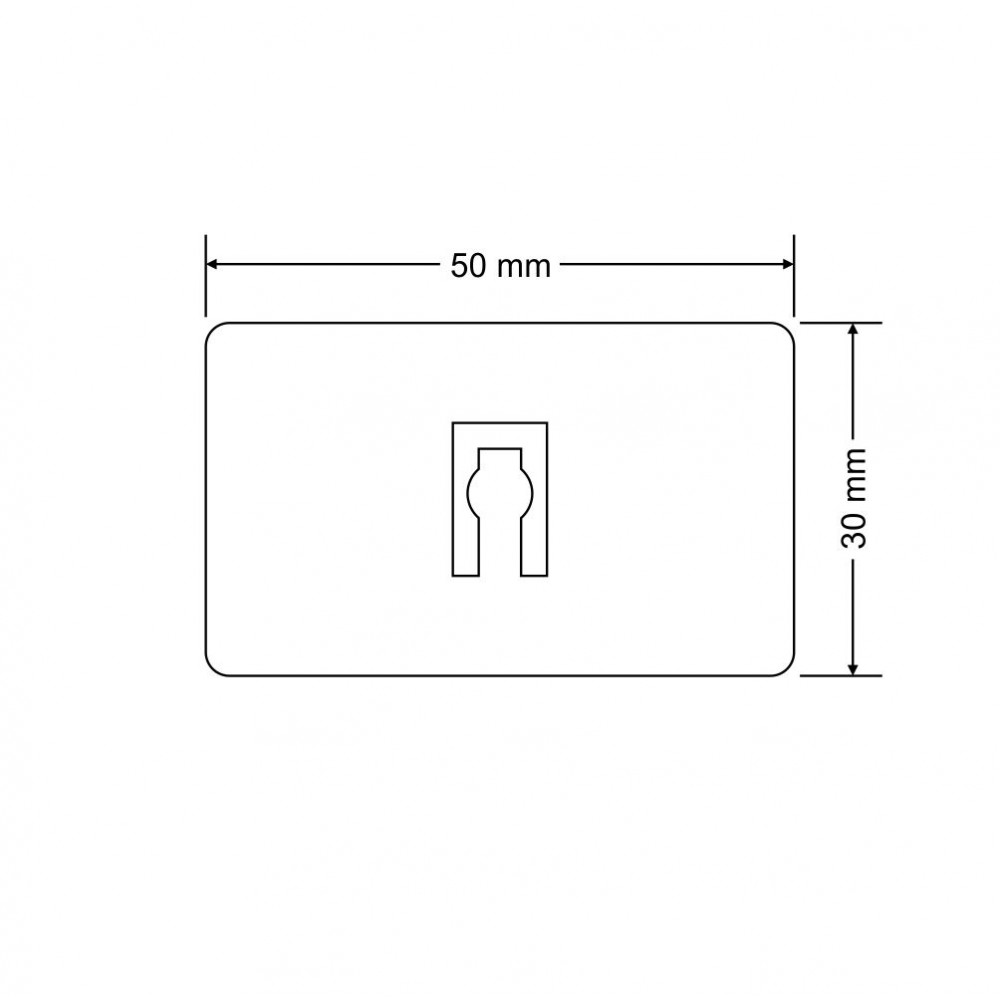 Plastična poklopka s filcem - 3,5 mm - za base 50 mm x 30 mm