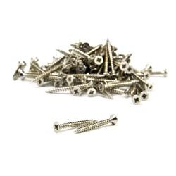 Flat head screw (10 pcs) - 2,2 mm x 13 mm - nickel