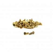 Vijak z ugreznjeno glavo (10 kos) - 2,2 mm x 9,5 mm - zlato