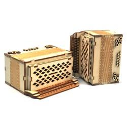 Leseni hranilnik za kovance - harmonika - 14 cm x 7,5 cm